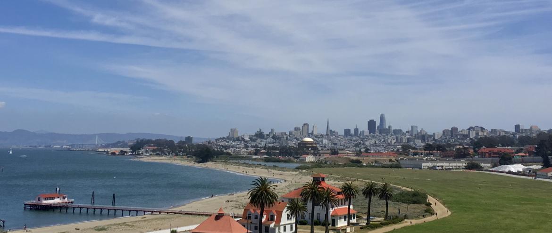 Vue sur la Baie de San Francisco depuis le Presidio
