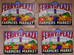 Photo : Affiche pour le grand Farmers Market au Ferry Building San Francisco