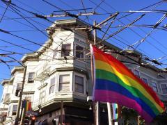 Drapeau LGBT à Castro, San Francisco