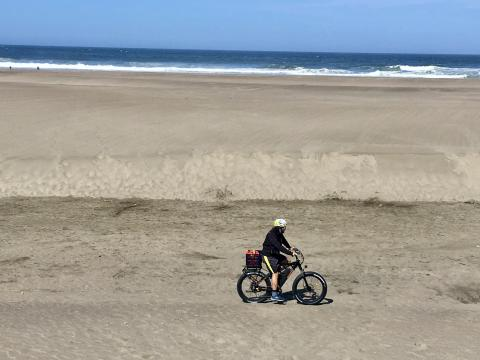 Vélo sur la plage à San Francisco