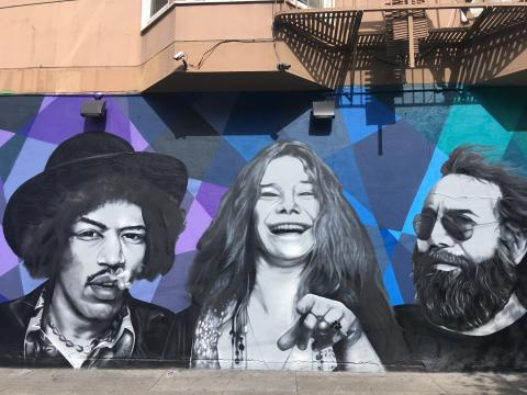 [Photo : Jimi Hendrix, Janis Joplin et Jerry Garcia, 3 idoles du Summer Of Love]