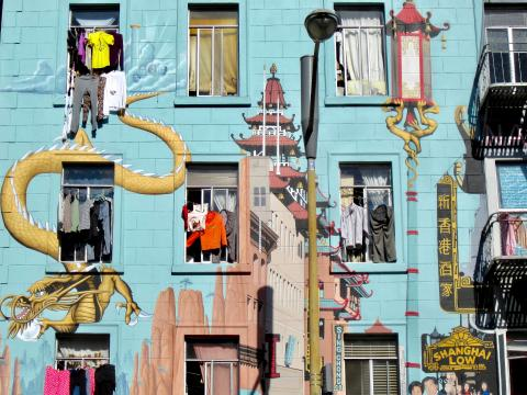 [Photo : Fresque murale Chinatown San Francisco]