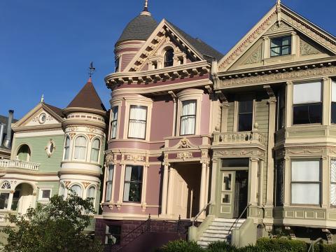 maisons victoriennes à San Francisco
