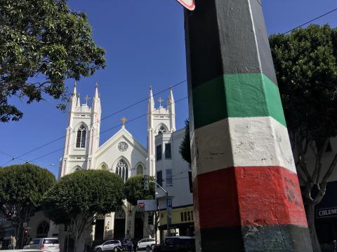 Photo : les rues du quartier italien à San Francisco