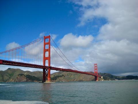 [Photo : vue sur le Golden Gate Bridge San Francisco]