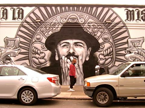 Photo : Santana fresque murale San Francisco