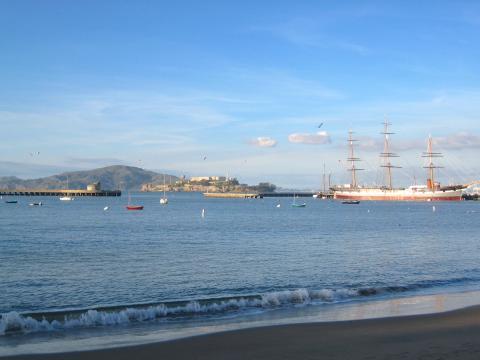 Photo : Hyde Pier ou le quai historique de Fisherman's Wharf San Francisco