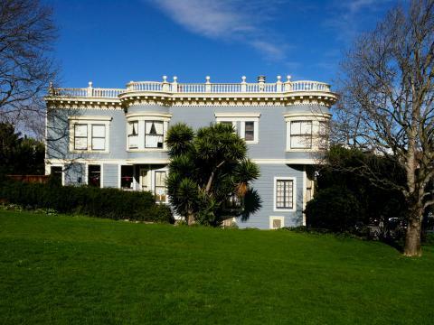 Photo :  Maison bleue à Duboce Park San Francisco