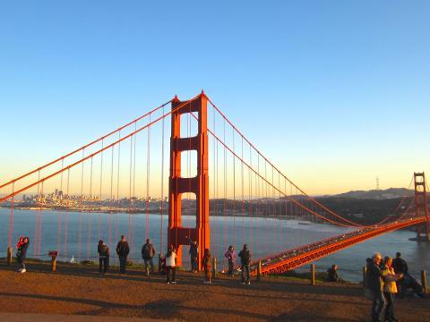 Photo : Golden Gate Bridge, le pont rouge San Francisco